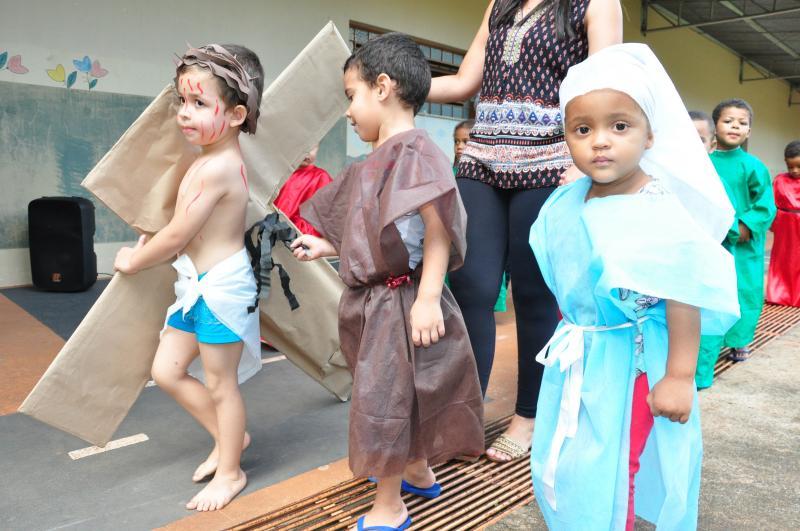 José Reis:Turma do maternal, responsável pela encenação, conta com 30 alunos entre 2 e 4 anos