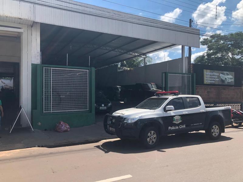 Polícia Civil:Veículos foram apreendidos em estabelecimentos comerciais