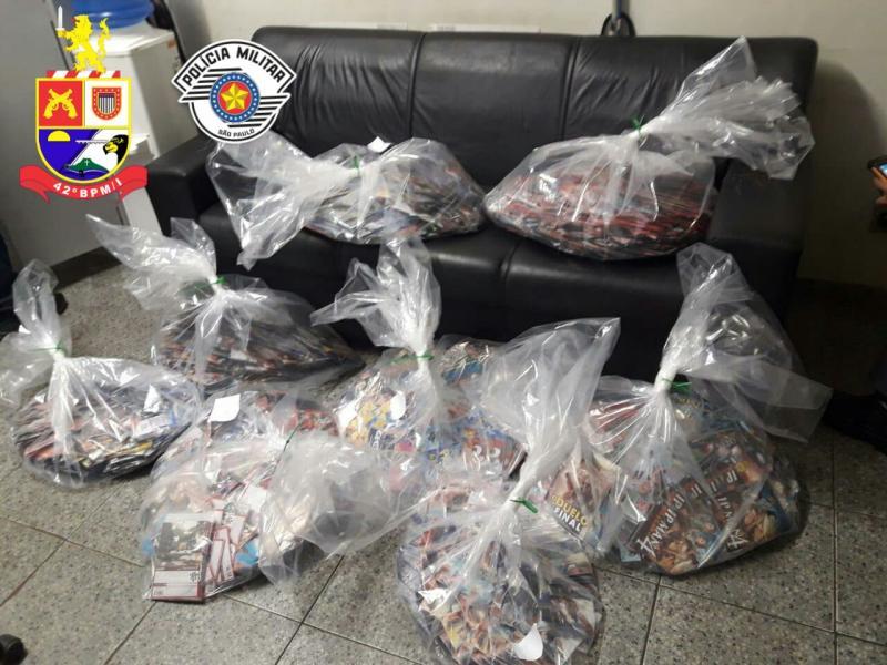 Polícia Militar:Mercadorias estavam dentro do porta-malas de veículo