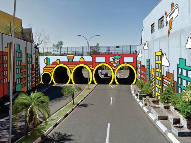 Cedida:Intervenção será no Viaduto que liga a Avenida Manoel Goulart à Rua Mendes de Moraes