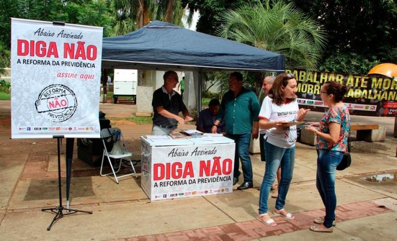 Foto: Cedida/CSB -Coleta em Prudente já reuniu, pelo menos, 1,5 mil assinaturas contrárias à reforma