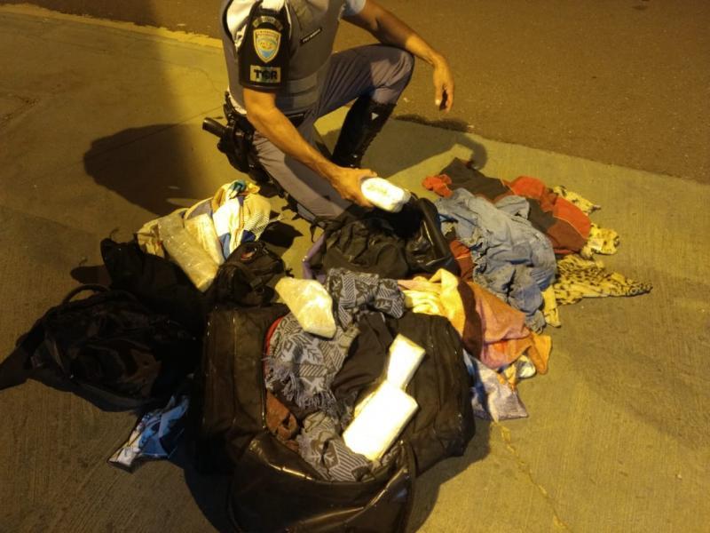 Polícia Militar Rodoviária:Drogas estavam na bagagem do passageiro de 28 anos