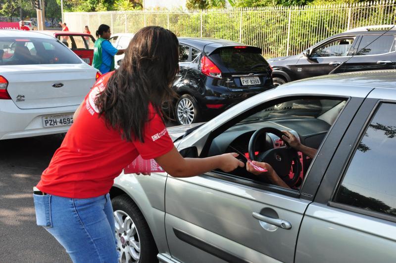 José Reis - Organização estimou a abordagem de 3 mil motoristas durante ação em rotatória