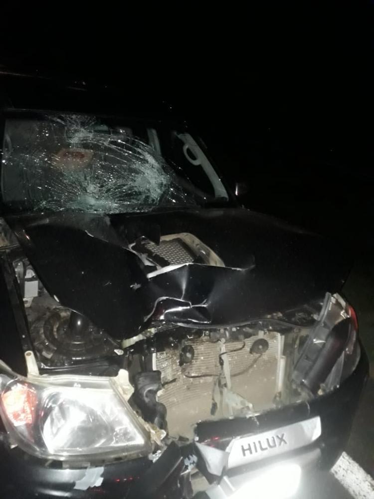 Polícia Militar Rodoviária:Acidente ocorreu ontem à noite e envolveu veículo Toyota/Hilux