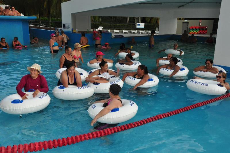 José Reis:Boias espalhadas pelas piscinas fazem parte da ação que visa conectar as pessoas