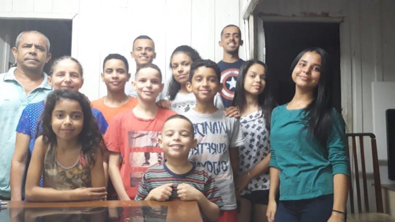 Arquivo pessoal -Aparecida Graci Pereira da Silva, de Prudente, tem 51 anos e 10 filhos: sendo seis homens e quatro mulheres