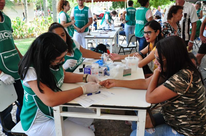 José Reis - Ação de ontem contou com orientações, testes de glicemia e aferição de pressão arterial