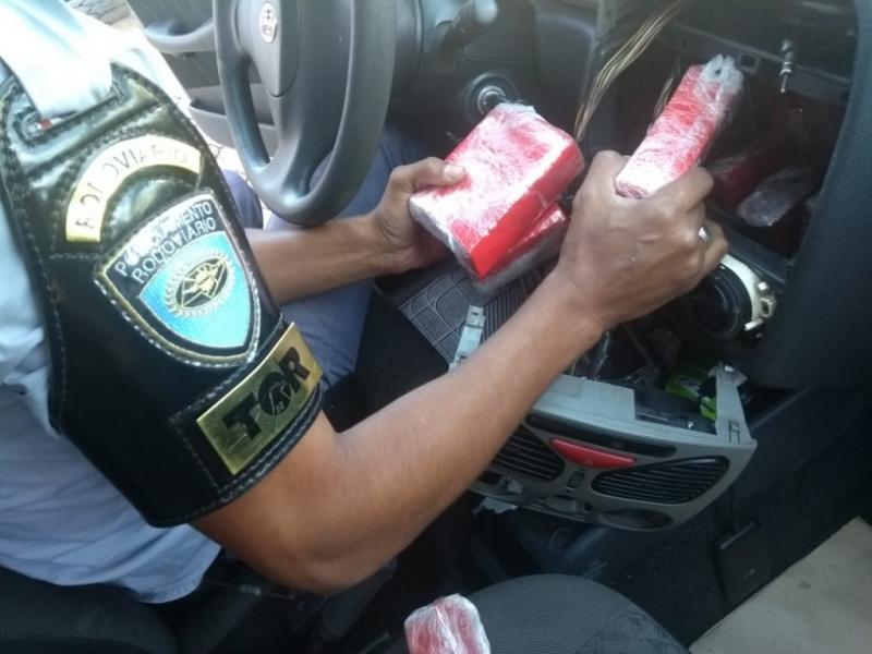 Polícia Militar Rodoviária:Veículo foi abordado enquanto transitava pela Rodovia Raposo Tavares