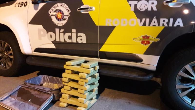 Polícia Militar Rodoviária:Cheiro da maconha chamou a atenção dos policiais militares
