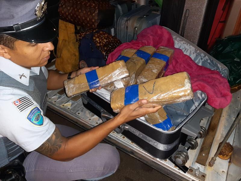 Polícia Militar Rodoviária:Drogas estavam dentro da mala do passageiro de ônibus