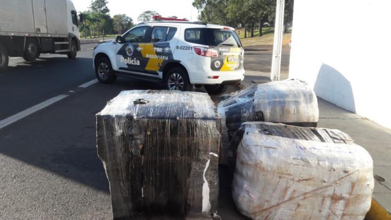 Polícia Militar Rodoviária -  Foram localizados seis fardos de mercadorias oriundas do Paraguai