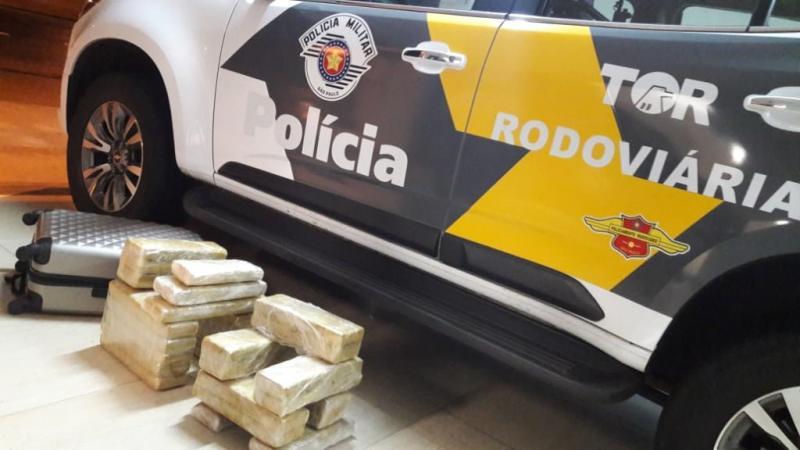 Polícia Militar Rodoviária:28 tabletes de maconha somaram pouco mais de 29 quilos