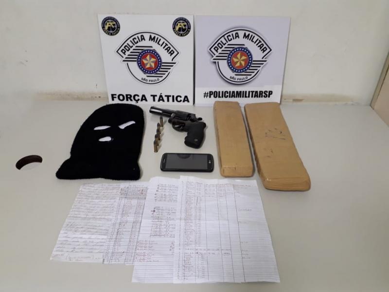 Polícia Militar:Materiais estavam dentro de uma residência, no Jardim Regina