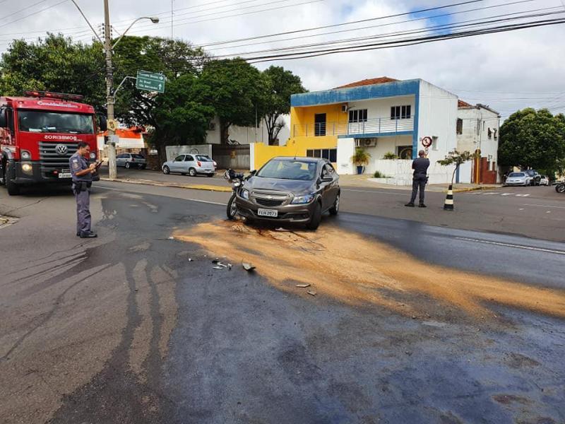 Facebook/Conseg Centro-Sul/Acidente ocorreu no cruzamento de duas principais vias de Presidente Prudente