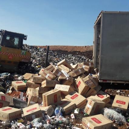 Receita Federal:Serviço para destruir carga de cigarros levou quatro dias