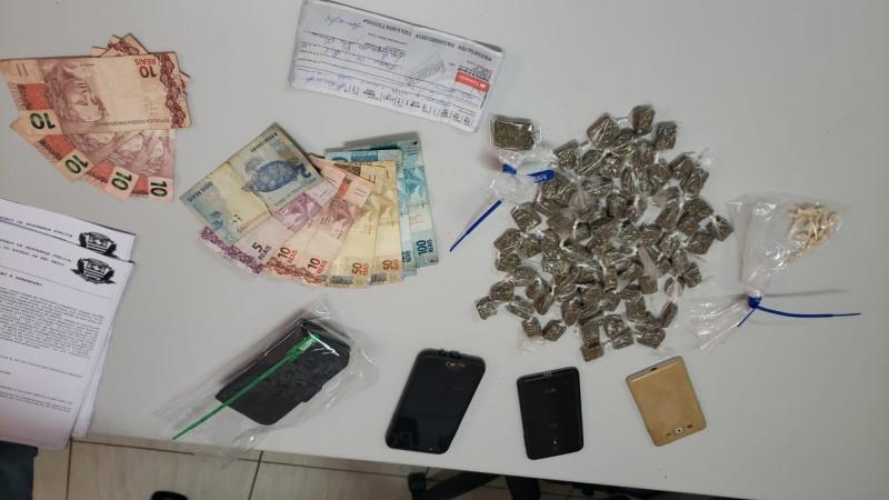 Polícia Civil:Dois homens foram presos em flagrante com drogas