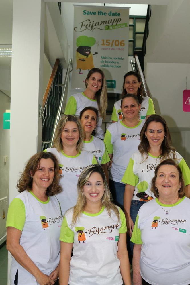 As organizadoras da Feijamupp 2019: Rosangela Jaccoud, Jessica Carrilho, Renata Mazzaro, Juliana Kuhn Medina, Cláudia Macedo Oliveira, Soraya Vidal, Adriana Mazetto Garcia, Juliana Mazaro e Mila Murad.