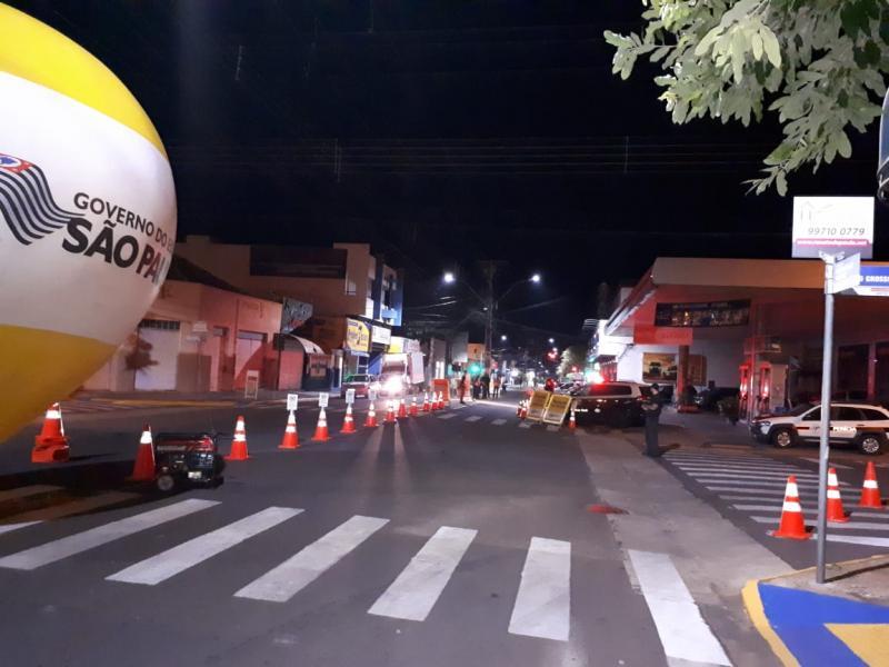 Polícia Civil - Pontos de bloqueio foram criados em dois pontos de Epitácio na noite de ontem