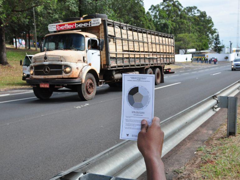 Arquivo - Ação consiste na fiscalização de veículos a diesel que estejam emitindo poluentes