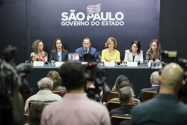 AI do governo do Estado  - Anúncio da campanha ocorreu em coletiva de imprensa no Palácio dos Bandeirantes