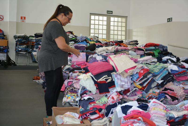 Marcos Sanches/Secom -Até o momento, 80 mil itens foram arrecadados durante a campanha do agasalho