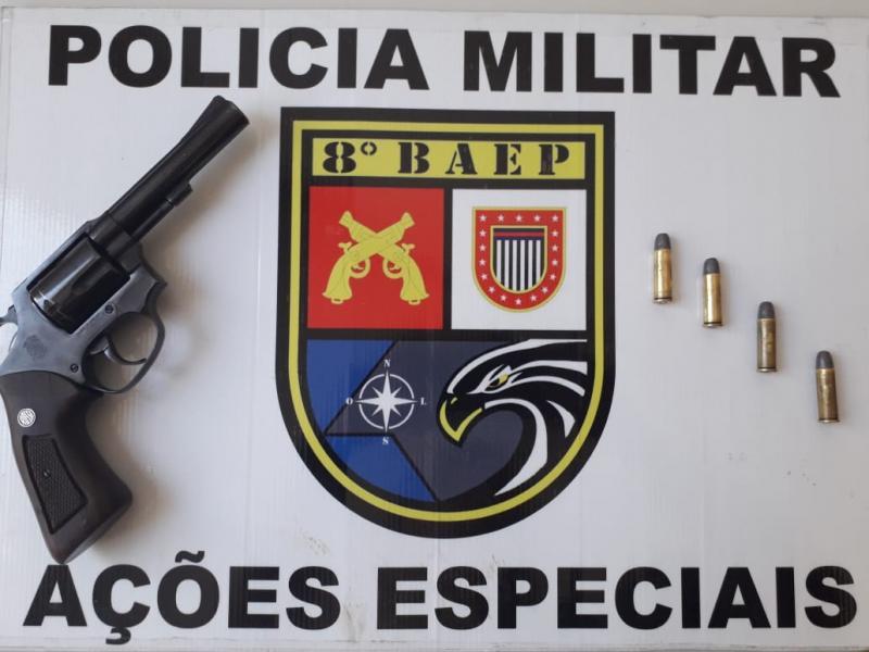 Polícia Militar:Arma de fogo estava escondida no telhado de imóvel