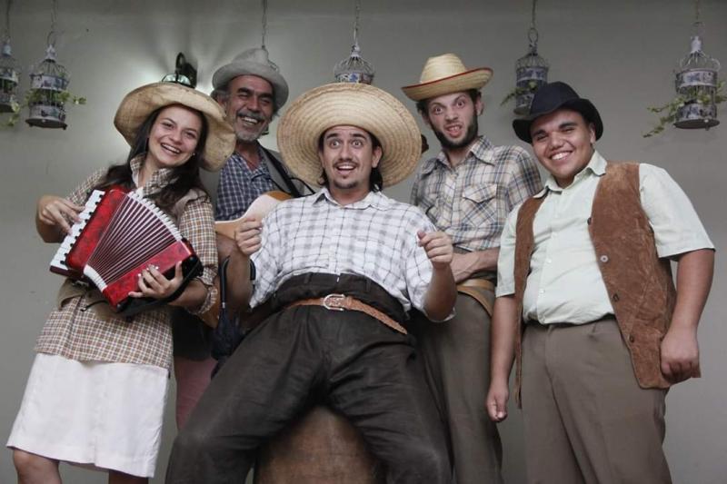 """Cedida/ Sesi- Prudente:Espetáculo """"Mazzaropi"""" é concebido com uma coloração regionalista aliada a uma levada circense"""