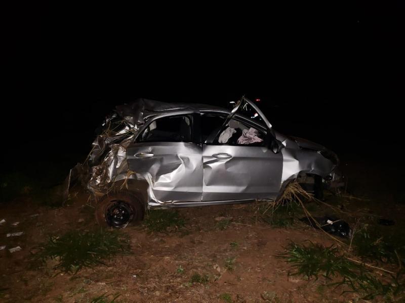 Polícia Militar Rodoviária - Carro roubado foi encontrado às margens da SP-457, na madrugada deste sábado