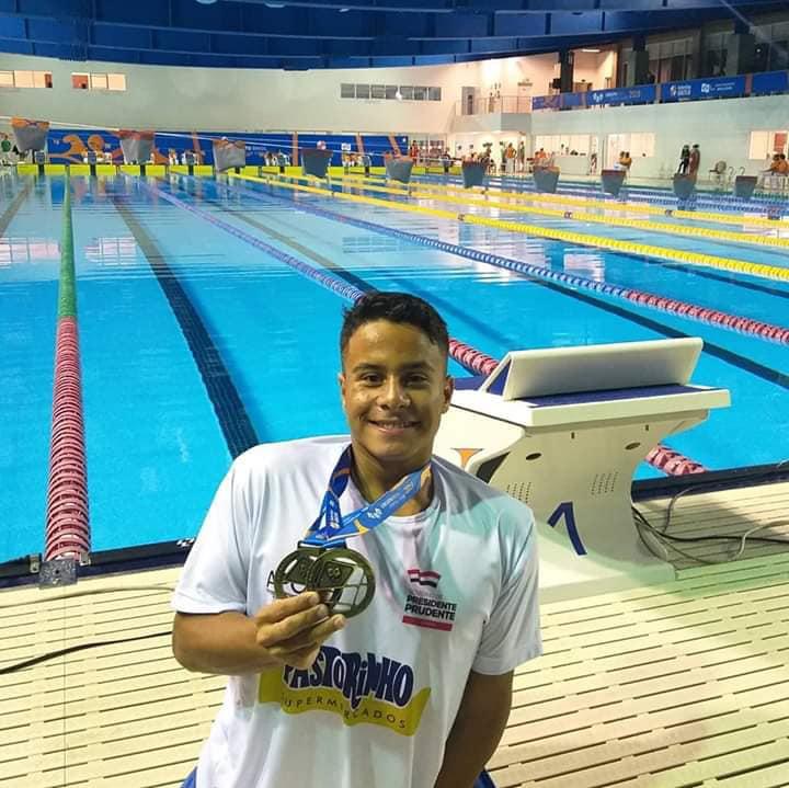 Cedida:Lucas conquistou dois ouros, nos 200 Livre e 200 Medley