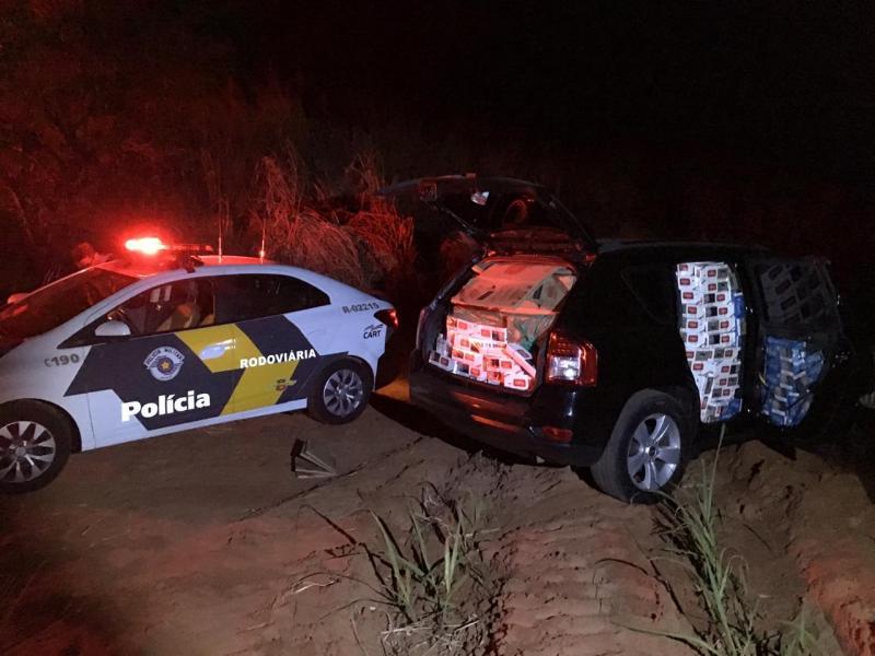 Polícia Militar Rodoviária:Antes do acidente, motorista fugia com carga de contrabando