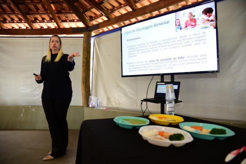 Paulo Miguel:Atividade buscou incentivar a autonomia durante as refeições de bebês