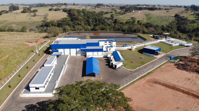 Cedida: Vista aérea do novo frigorífico, instalado na rodovia Ângelo Rena, em Regente Feijó