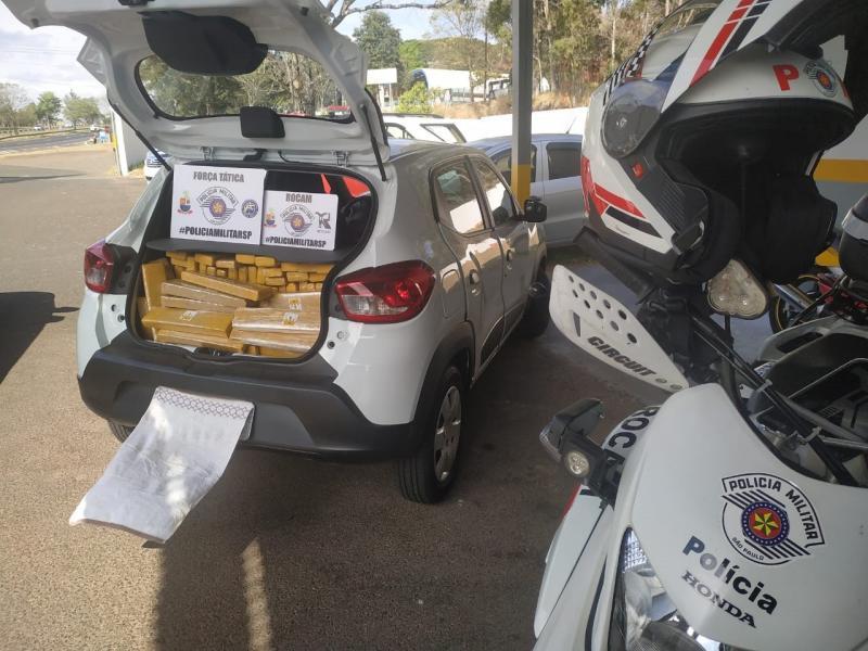 Polícia Militar - Veículo apreendido com carga de maconha havia sido roubado em Curitiba