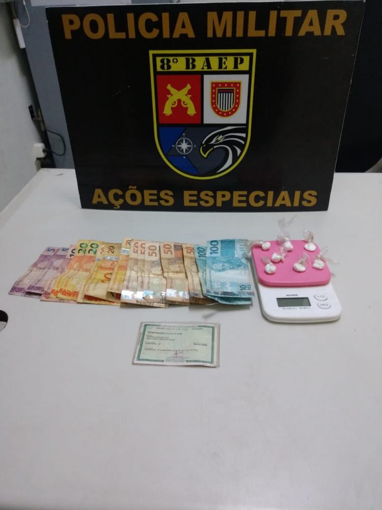 Polícia Militar - Apoio do canil auxiliou na localização da droga