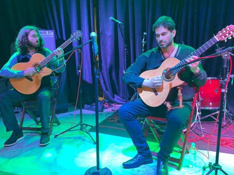 Os violinistas Marcelo Nami e Amir Weiz, profissionais em Israel, apresentaram workshop para músicos de PP