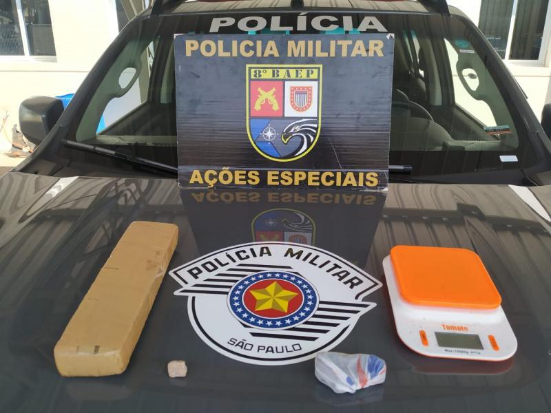 Polícia Militar - Maconha foi adquirida em Bataguassu (MS), por R$ 1,6 mil