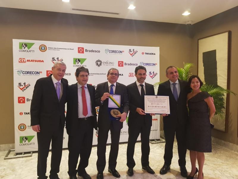 Os promotores Silvio Marques, Valter Santin, José Carlos Blat, Christiano Jorge Santos, Karyna Mori e Paulo Destro