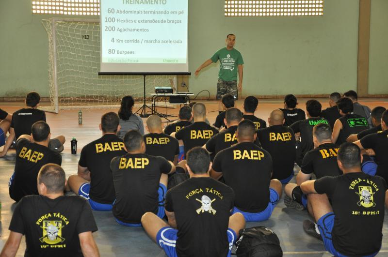Foto: João Paulo Barbos/Unoeste - Agentes do Baep, Força Tática e seguranças da Unoeste participaram do treinamento