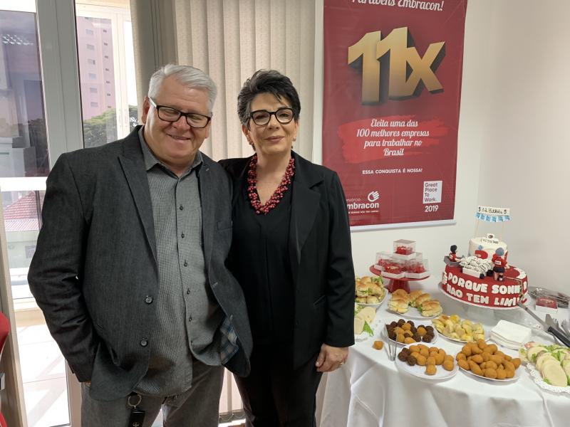 Milens Belonci e Maria Cristina Belonci, diretores da P3M Empreendimentos