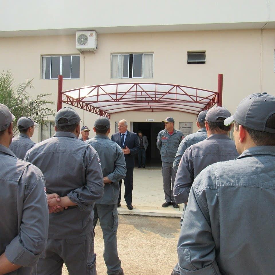 Comunicação Social/14º GB - Dentre as visitas, secretário da Segurança Pública foi ao 14º Grupamento de Bombeiros