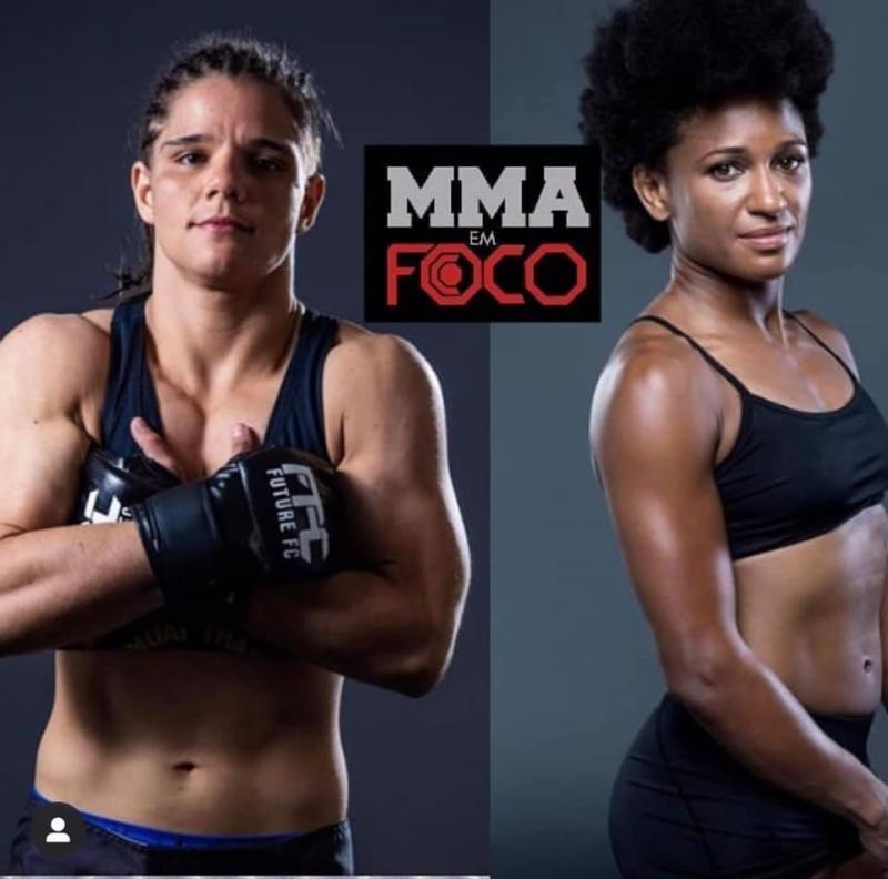 Ariane Sorriso e a americana Angela Hill, no cartaz da primeira luta da prudentina no UFC Fight Night, dia 21 de setembro, na Cidade do México.