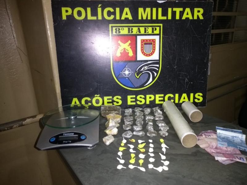 Polícia Militar - Acusado indicou que havia mais drogas dentro de imóvel