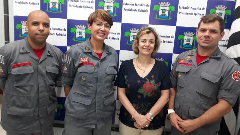 Prefeitura de Epitácio - Comandante foi apresentada oficialmente à prefeita de Epitácio