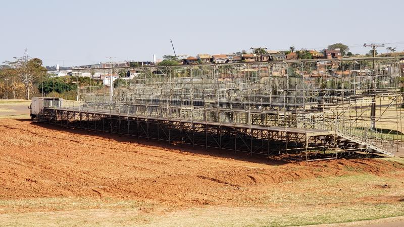 Cedida - Estrutura do camarote já está praticamente pronta; evento ocorre entre os dias 6 e 15 de setembro