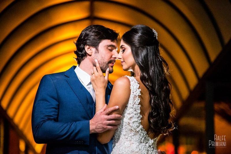 Casal Dudu Franceschini e Bianca Goes se casaram na Vila Naná