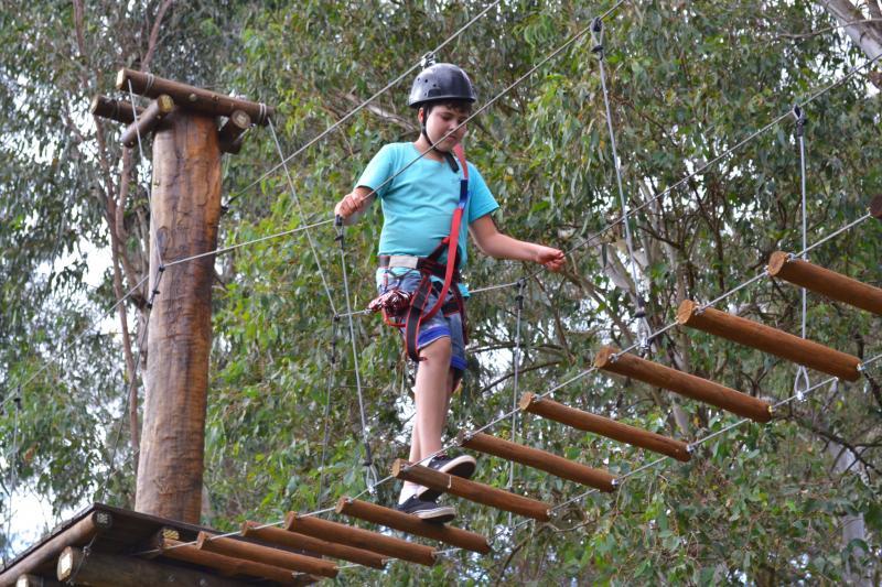 Arborismo, um dos esportes de aventura prediletos dos hóspedes do Terra Parque Eco Resort