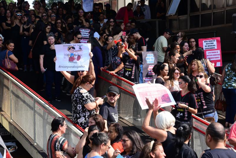 Paulo Miguel - Segundo a organização, cerca de mil funcionários públicos estavam presentes no ato