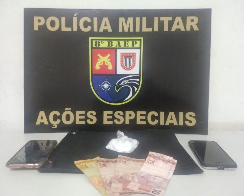 Polícia Militar - Invólucro havia sido dispensado na abordagem