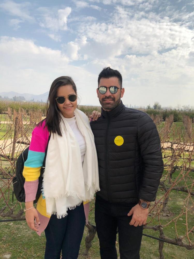Ricardo Galindo e Ana Carolina Ricci Fama, em viagem pelo Chile, pela First Tour