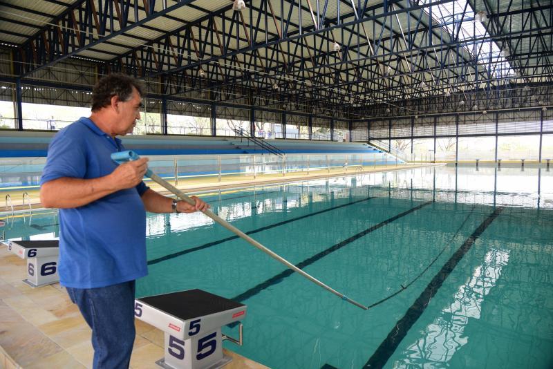 Paulo Miguel - Piscina olímpica é apropriada para receber competições de nível nacional e internacional